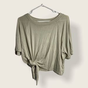 OAK+FORT - Tan T-Shirt with Front Knot